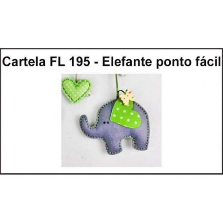 Cartela FL 195 - Elefante Patch Fácil